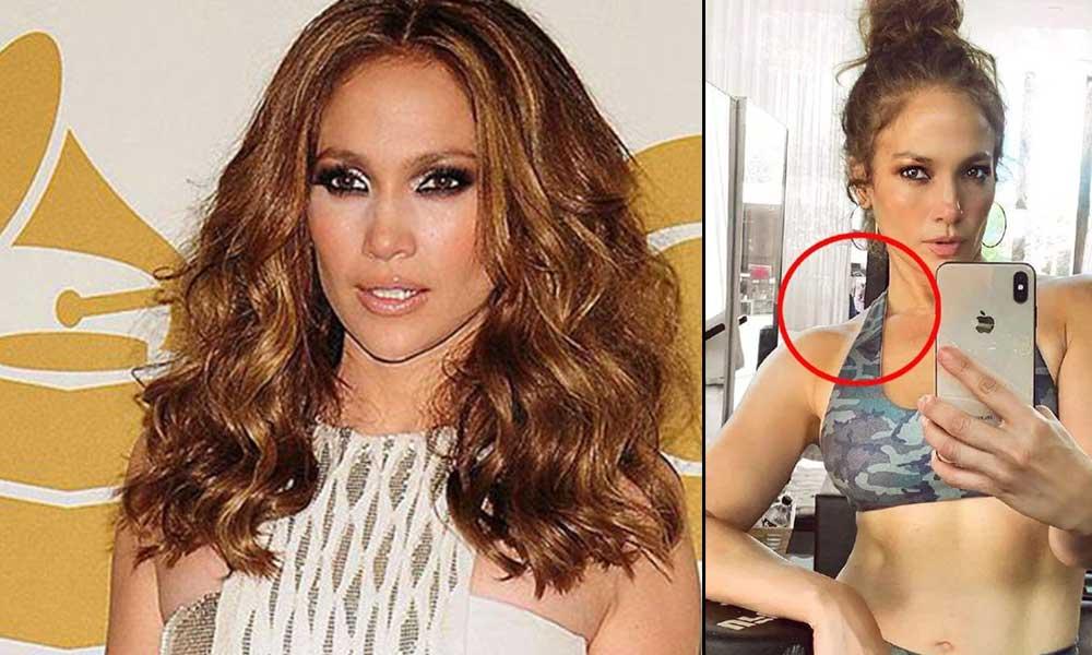 Hayranları korktu! Jennifer Lopez'in selfie'sindeki 'kel ve maskeli' adam