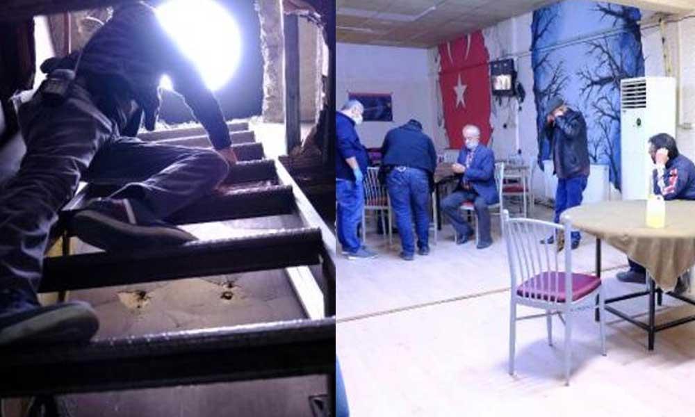 Polisten kaçmak için kıraathaneye tünel yaptılar