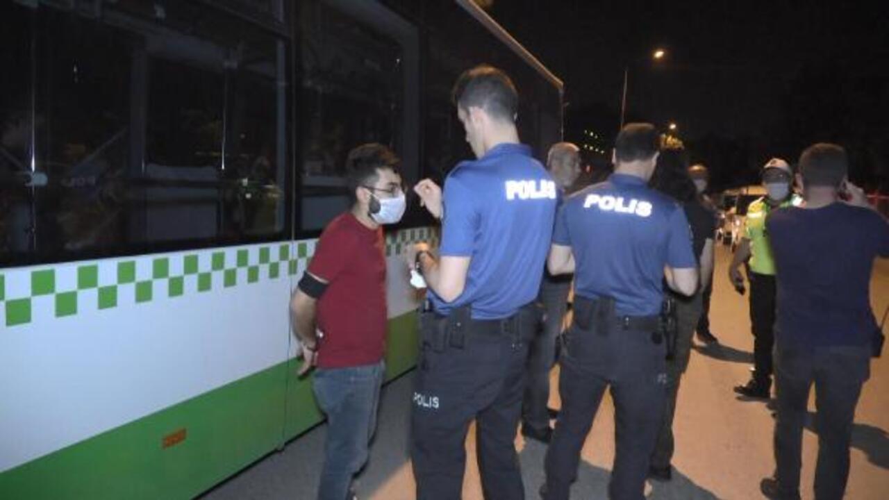 Kısıtlamanın son dakikalarında polise yakalandı
