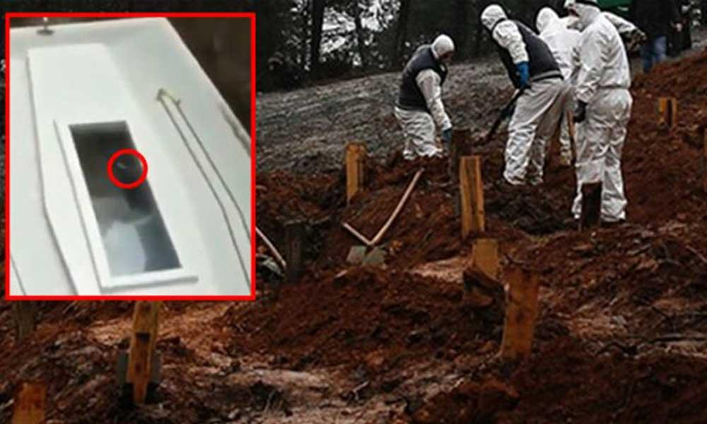 Koronavirüsten ölen adamın cansız bedeni tabutta hareket etti