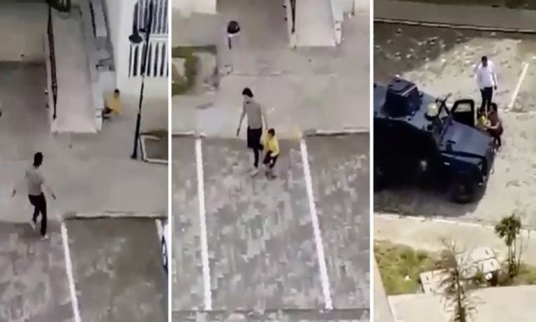 LeMan, polisin ateş açtığı 8 yaşındaki çocuğu kapağına taşıdı