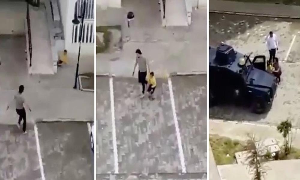 Çocukları silahla kovalayan polis açığa alındı!