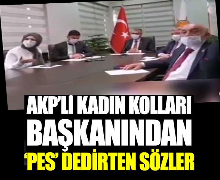 AKP'li kadın kolları başkanından 'Pes' dedirten sözler