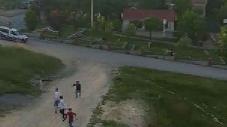 Arnavutköy'de polisi görünce böyle kaçtılar