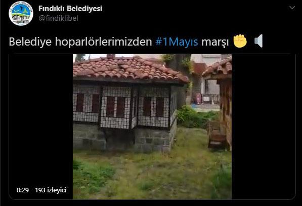Belediyenin hoparlörlerinden '1 Mayıs Marşı'