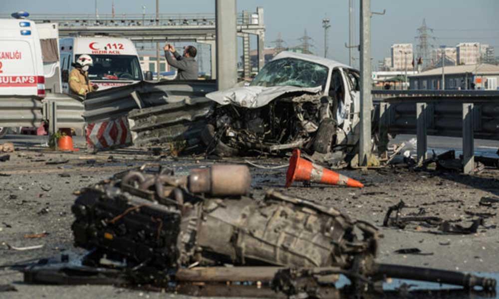Bomboş İstanbul'da trafik kazası