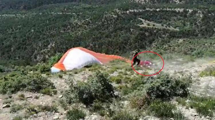 Yamaç paraşütü kazasında 2 pilot hafif yaralandı