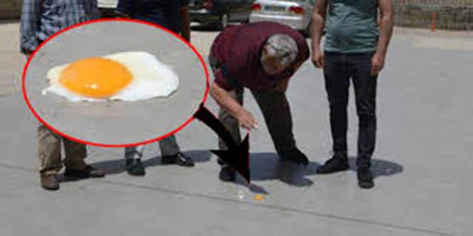 Sıcak hava 40 dereceye çıkınca yolda yumurtta pişirdiler