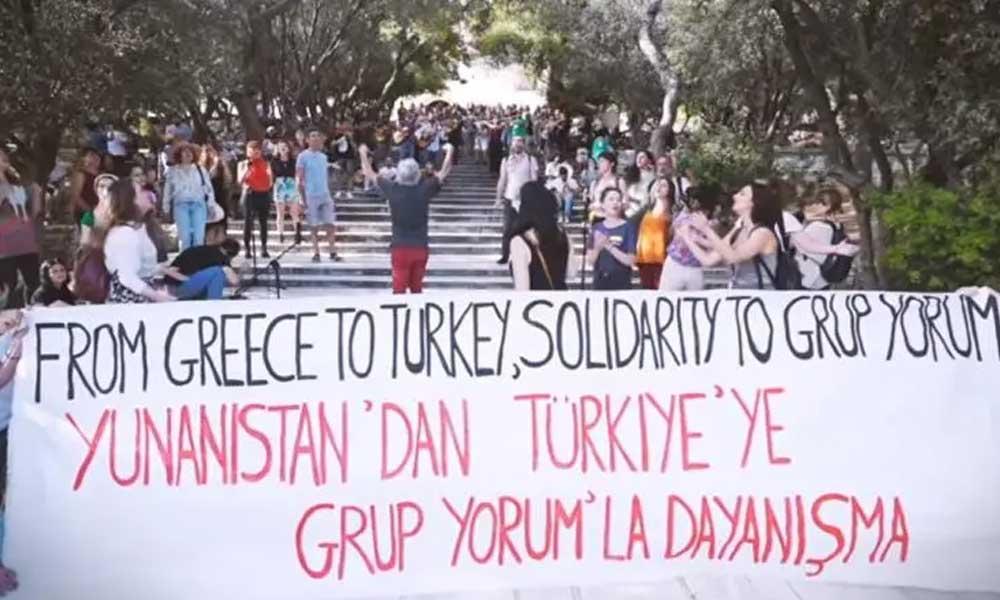 Yunanistan'da müzisyenlerden Grup Yorum'la dayanışma klibi
