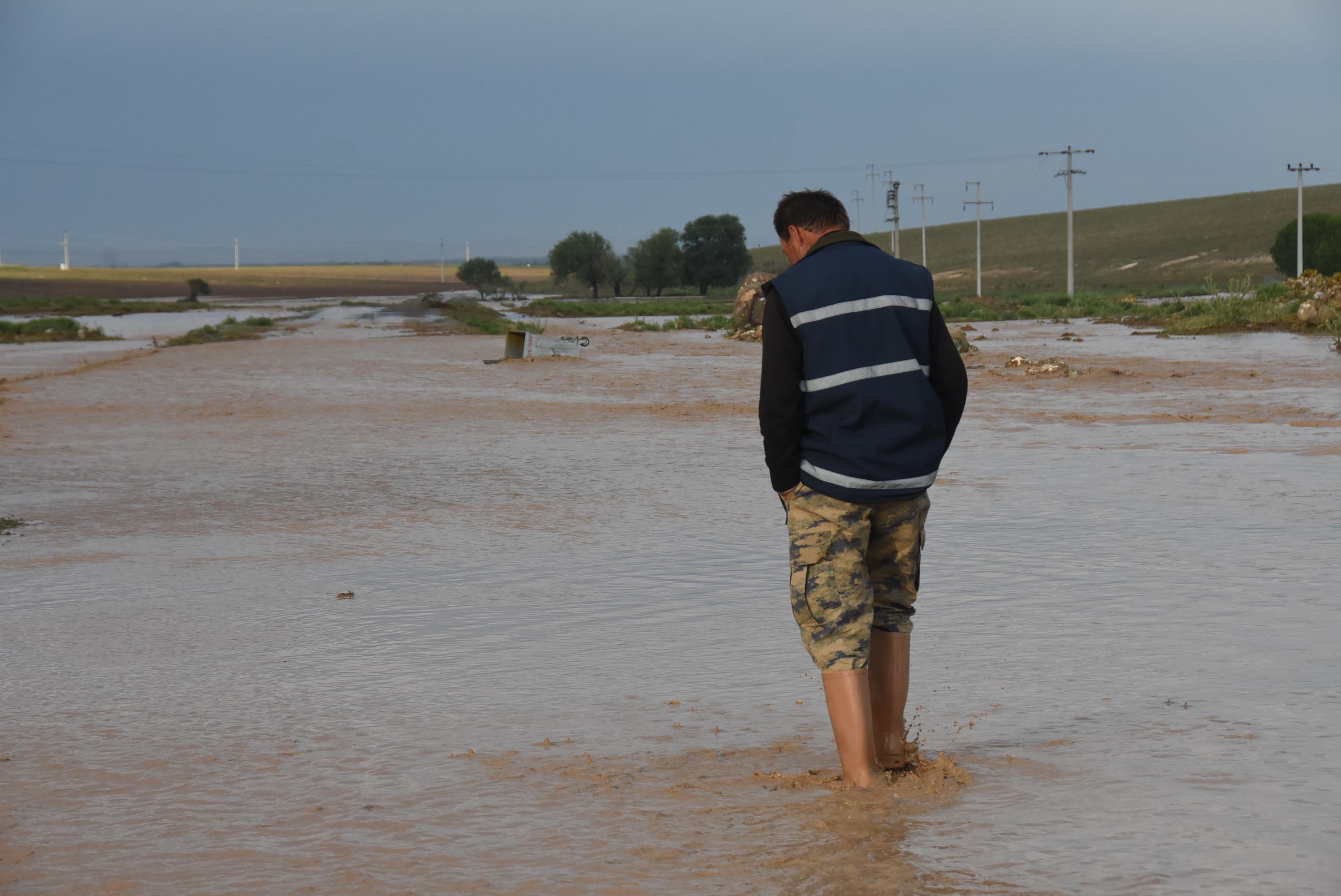 Eskişehir'de etkili olan dolu ve sağanak, tarım arazilerinde hasara yol açtı