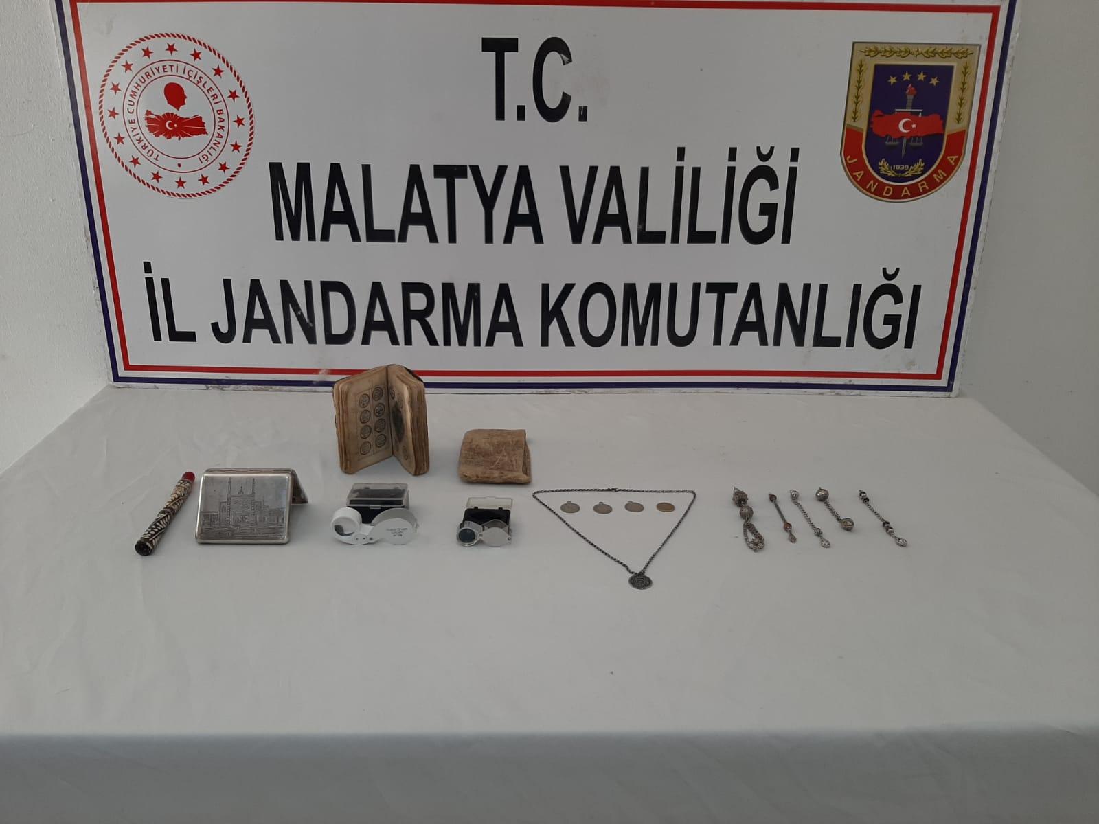 Malatya'da tarihi eser operasyonu: 2 gözaltı