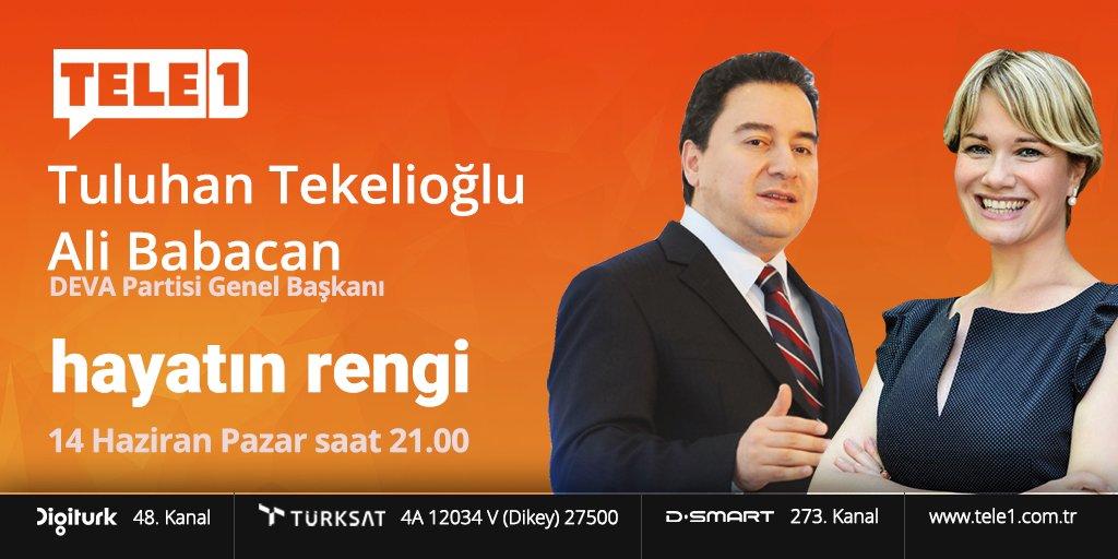 DEVA Partisi Gn. Başkanı Ali Babacan, Tele 1 ekranında!