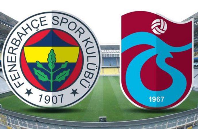 Zorlu derbi öncesi Fenerbahçe-Trabzonspor'un ilk 11'leri belli oldu