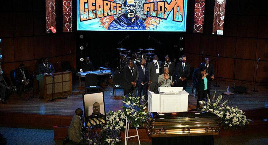 Polis tarafından boğularak öldürülen Floyd için ilk cenaze töreni yapıldı