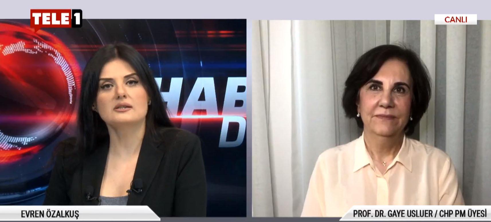 """CHP PM Üyesi Prof. Dr. Gaye Usluer: """"Mecliste anayasal darbe yapılmıştır ve meclis işlevsizleştirilmiştir"""""""