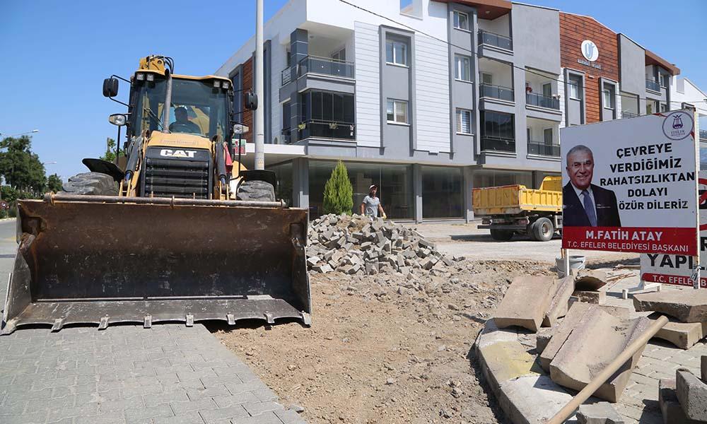 Efeler çalışıyor kentin yolları yenileniyor