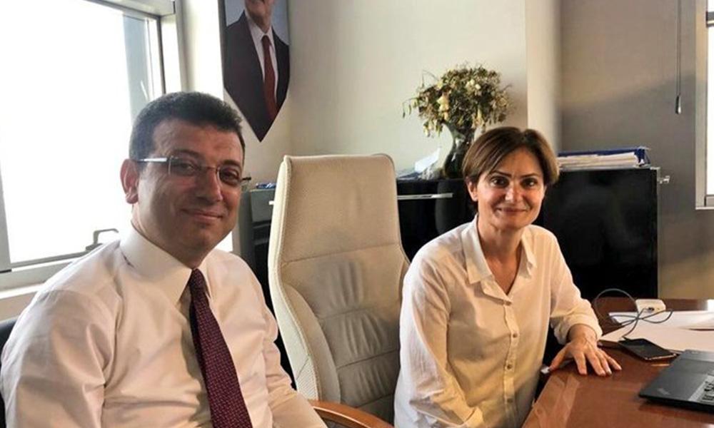 Ekrem İmamoğlu'ndan Canan Kaftancıoğlu'na destek