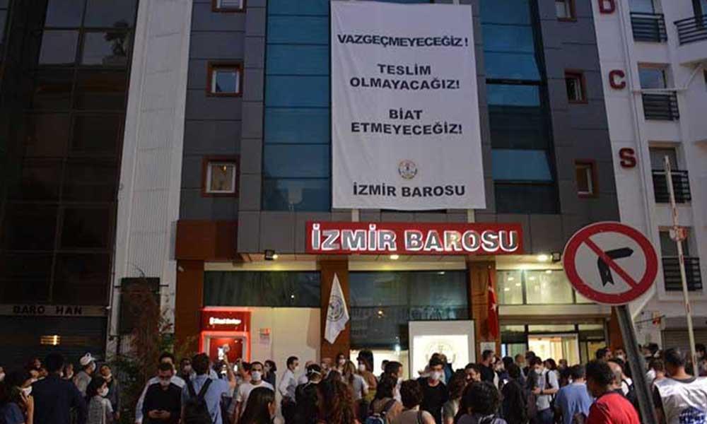 İzmir Baro Başkanı ve yönetim kurulu üyeleri çoşkuyla karşılandı!