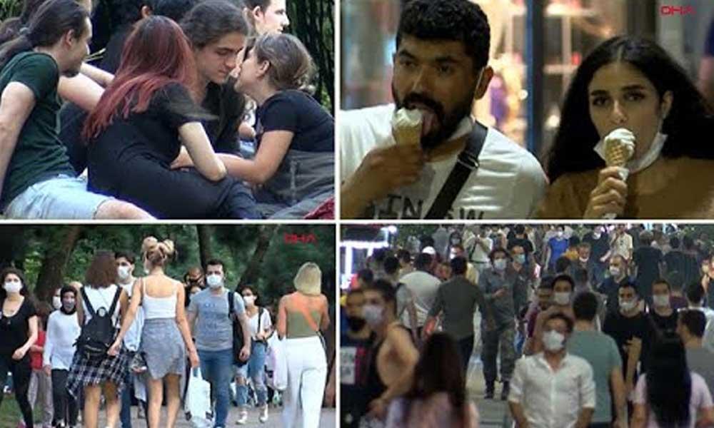 Görüntüler İstanbul'dan… Sosyal mesafe unutuldu, eski günlere dönüldü
