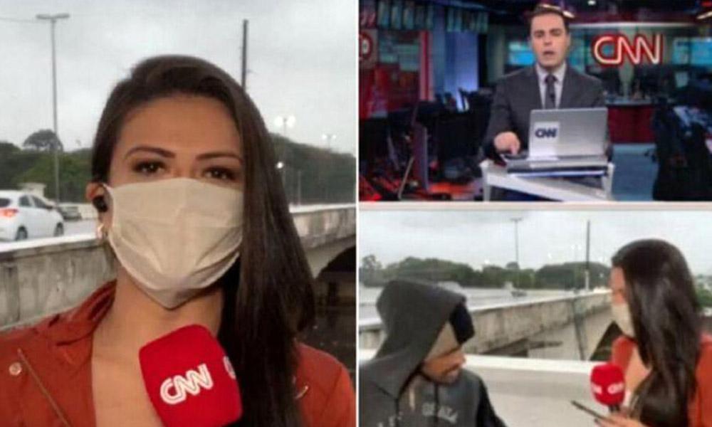 CNN muhabiri canlı yayında gasp edildi! İşte o görüntüler…