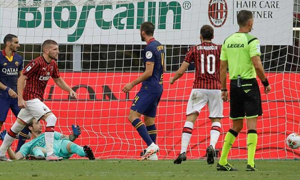 Milan, Hakan Çalhanoğlu ile Roma'yı yıktı