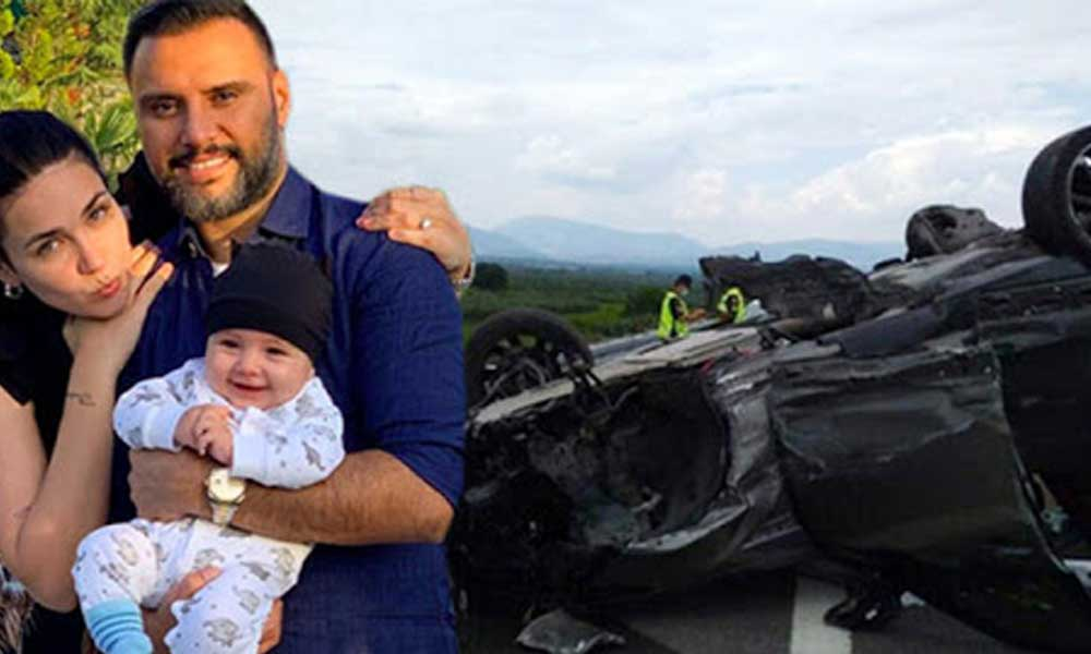 Şarkıcı Alişan, çocuğu ve eşinin olduğu araçla takla attı