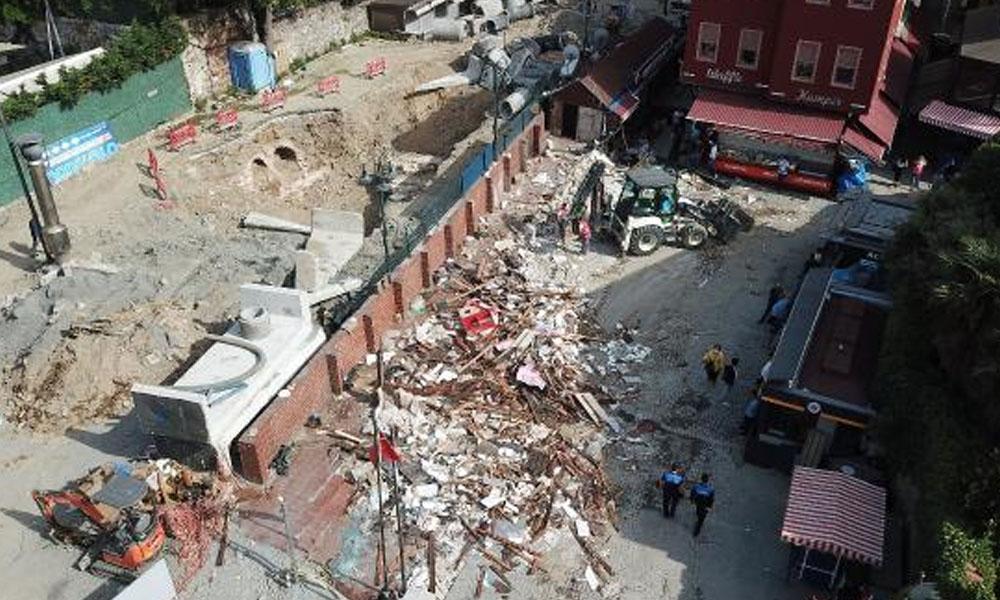 Ortaköy Kumpircilerin bulunduğu çarşıdaki dükkanlar yıkılıyor