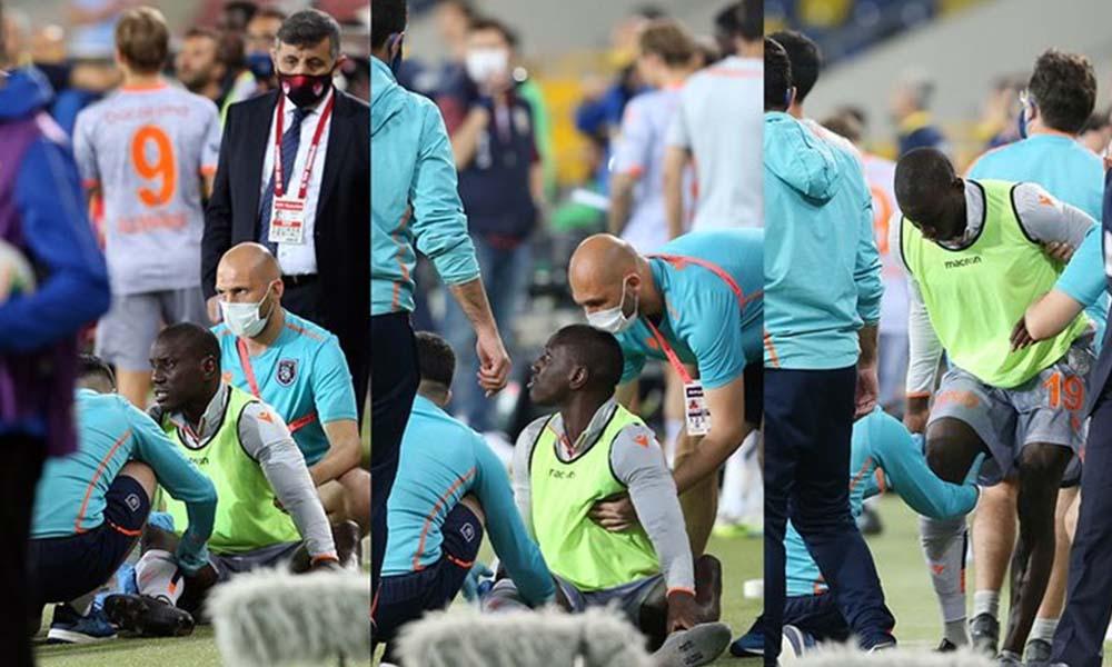 Seyircisiz karşılaşmada Demba Ba'ya su şisesi atıldı