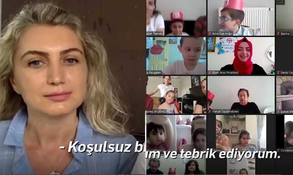 Dilek imamoğlu'ndan çocuklara sanal mezuniyet videosu