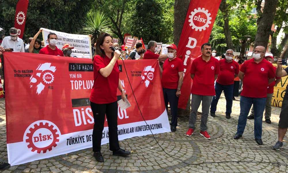 Büyük işçi direnişi 15-16 Haziran'ın 50.yılında DİSK, Yoğurtçu Parkı'nda bir araya geldi
