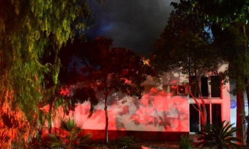 Ege Üniversitesi Hastanesi'nde yangın