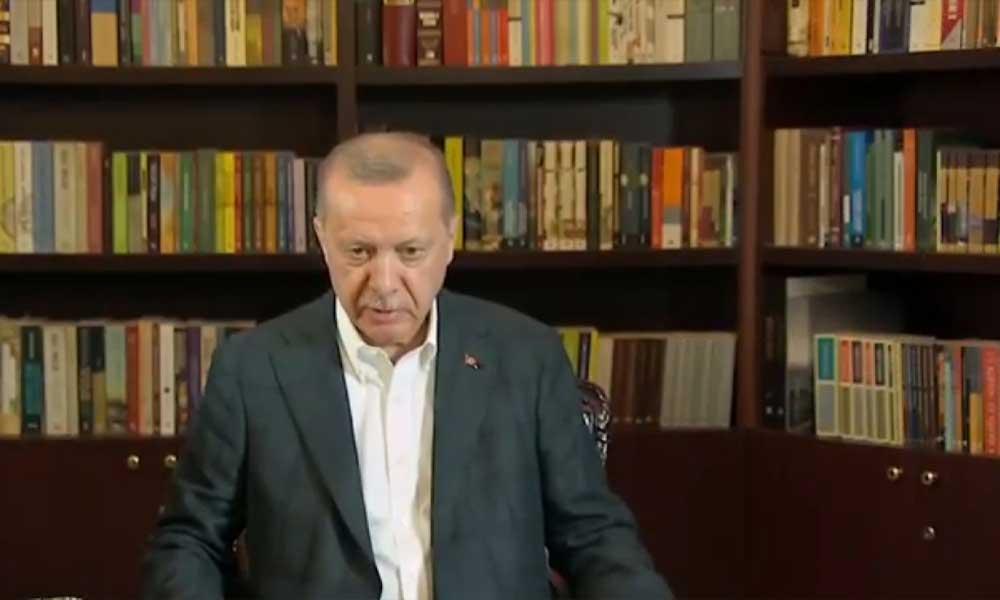Erdoğan'ın yayın öncesi hazırlık görüntüleri ortaya çıktı: Göbek çıksın