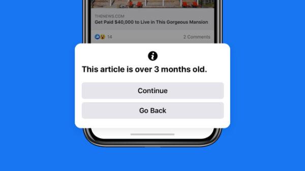 Facebook eski haber paylaşanları uyaracak
