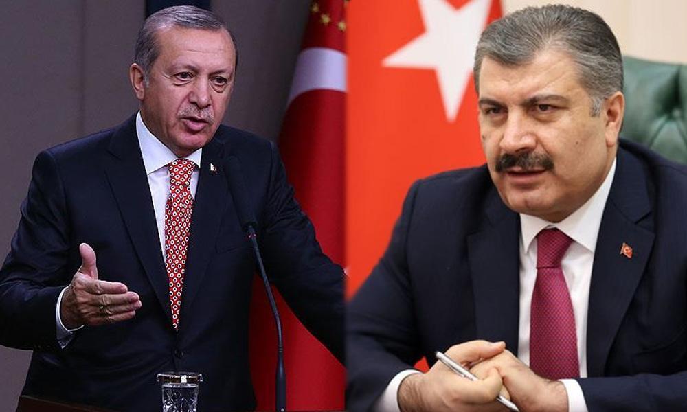 Sağlık Bakanı Fahrettin Koca, Erdoğan'a fark attı!