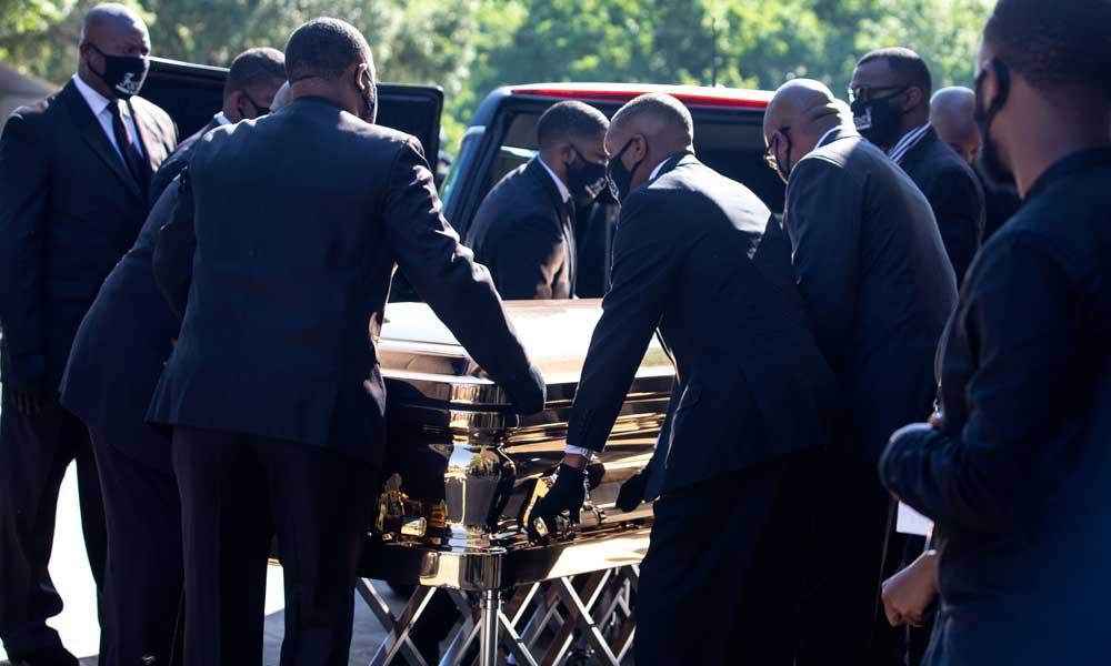 Floyd için son tören: Biden, Floyd'un ailesiyle görüşmek üzere şehre geldi