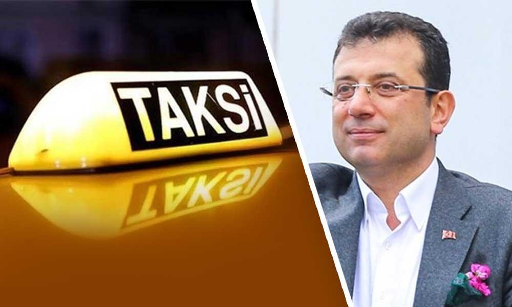 Taksicilerden Ekrem İmamoğlu'na tehdit
