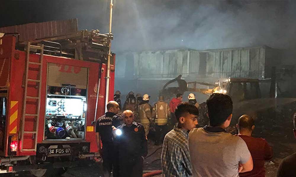 Birçok noktadan görüldü: İstanbul'da korkutan yangın