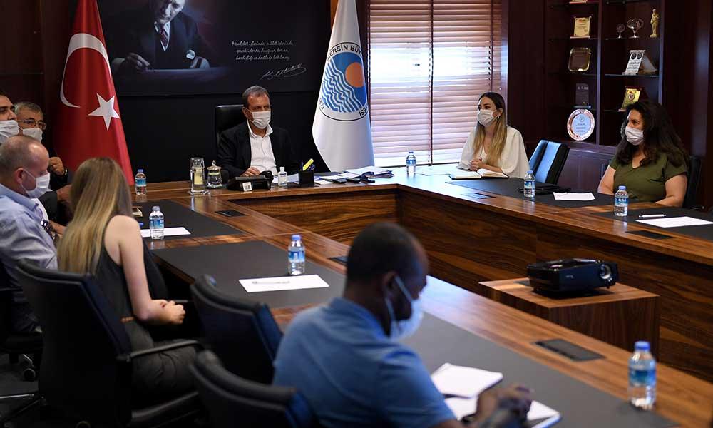 Başkan Seçer, Birleşmiş Milletler Uluslararası Göç Örgütü temsilcileri ile görüştü
