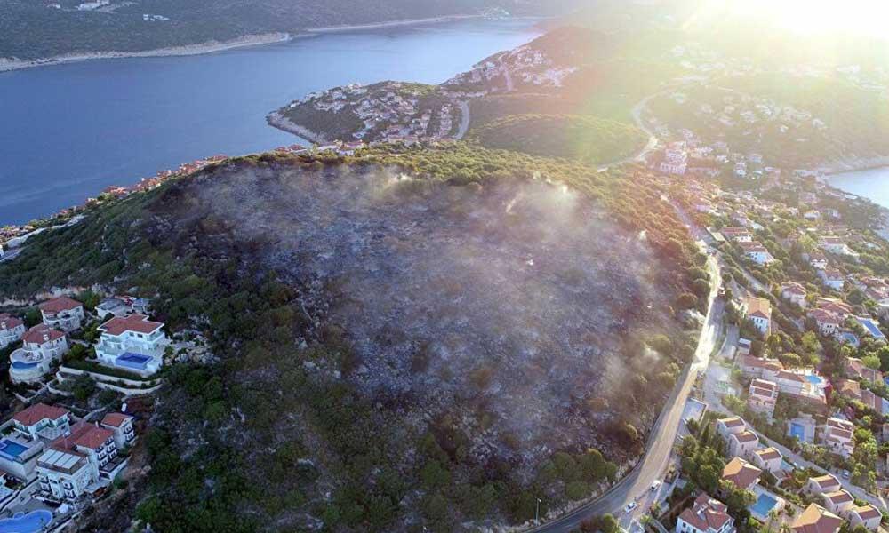 Kaş'ta yanan ormanlık alanın imara açıldı iddiası gündem olmuştu! Belediyeden açıklama geldi