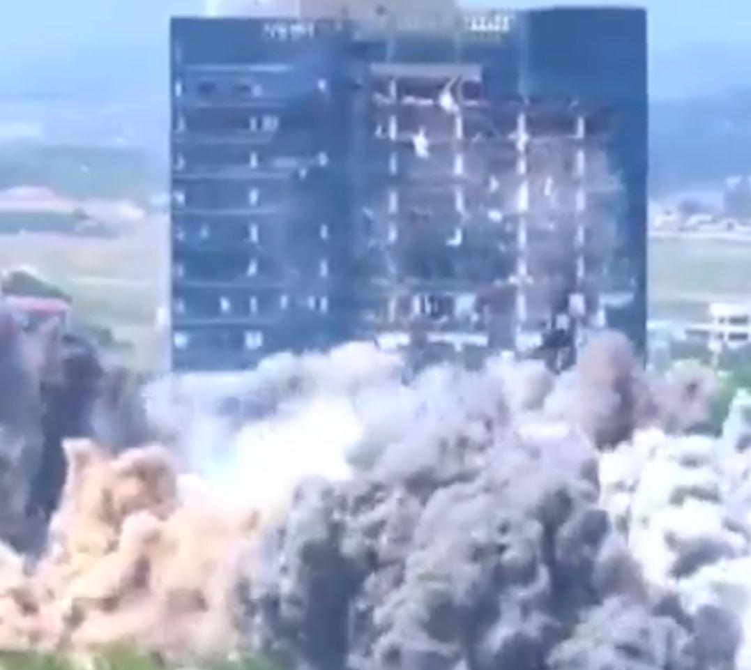 Kuzey Kore Güney'i böyle patlatmış… İşte en net görüntüler!