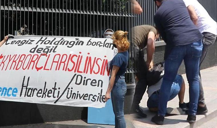 Öğrencilerin Cengiz Holding önündeki KYK eyleminde gözaltı