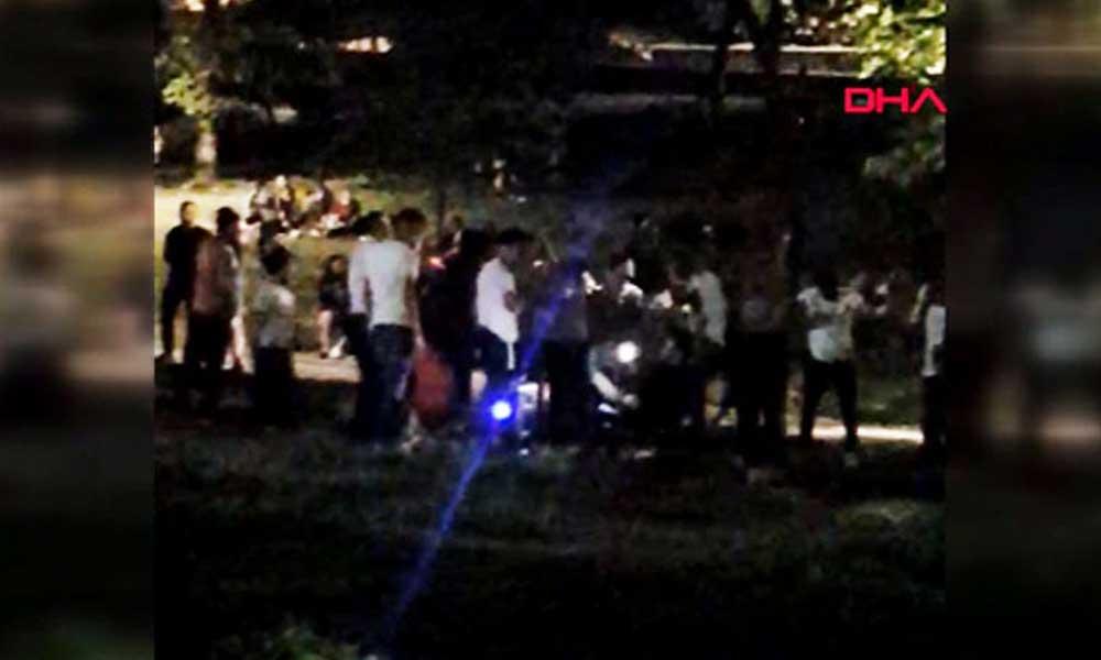 Maçka Parkı'nda endişelendiren görüntü: Salgına aldırmadan halay çektiler