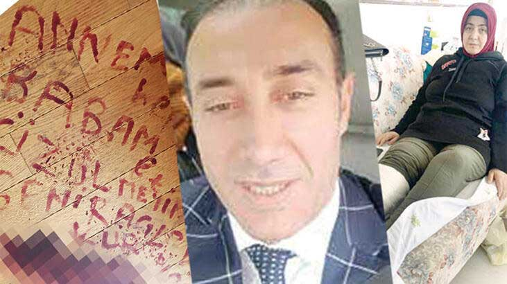 Kendisini vuran kocasının adını kanıyla yazmıştı: Saldırgan yakalandı