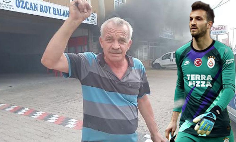 Galatasaray'lı Okan Kocuk'un babası hakemi böyle protesto etti!