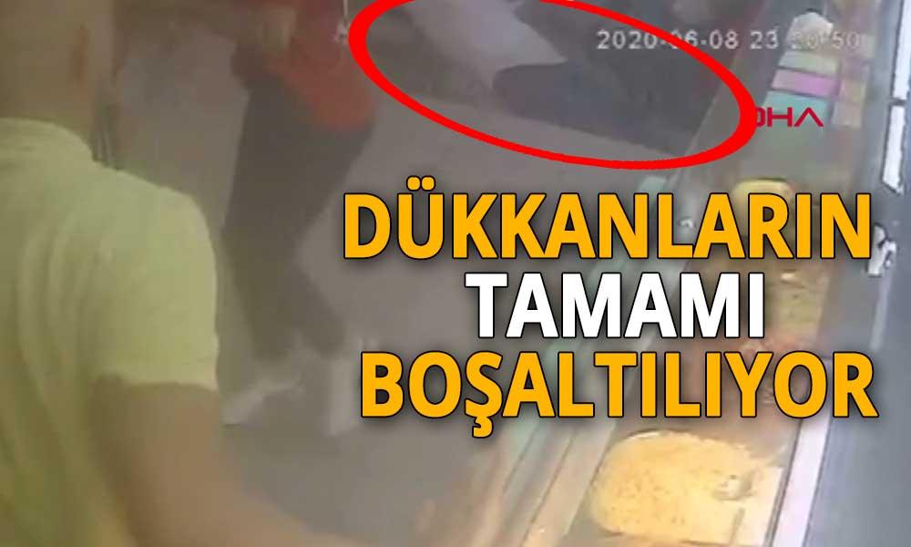 Dehşet anları kamerada! Ortaköy'de kumpircilerin olduğu sokakta çökme