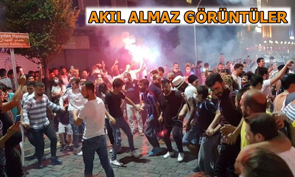 Trabzonlu taraftarlar Korona tepti!