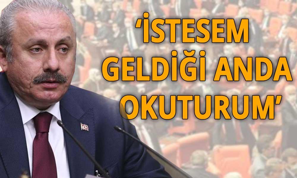 Meclis Başkanı Şentop: Beş ismin milletvekilliği düşecekti