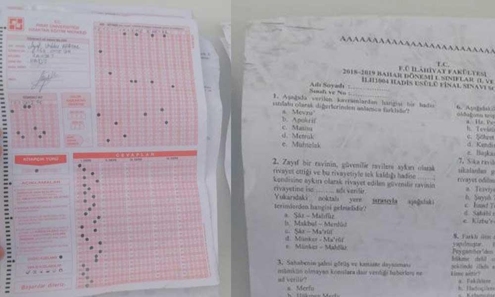 Yolda bulunan sınav kağıtlarına ilişkin gerçek ortaya çıktı