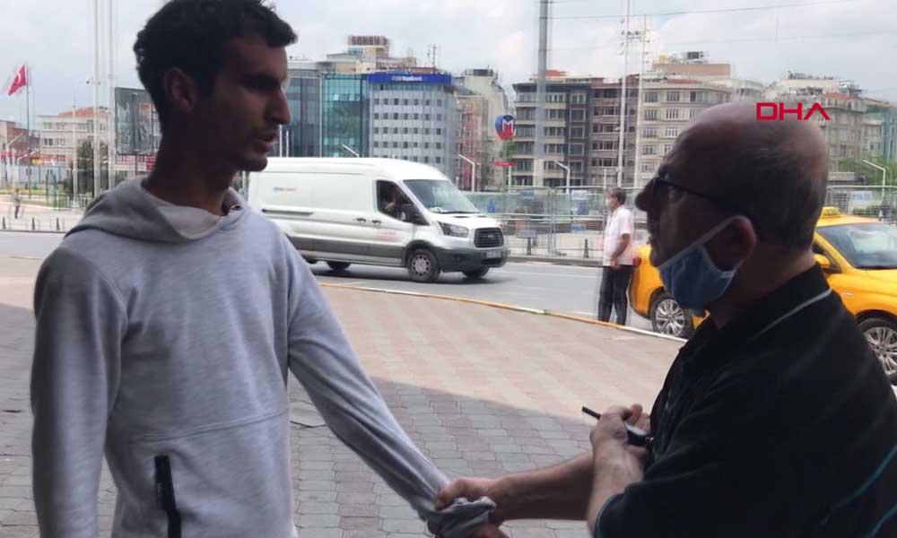 Taksici 'para ödemedi' dediği müşteriyi polise teslime etti