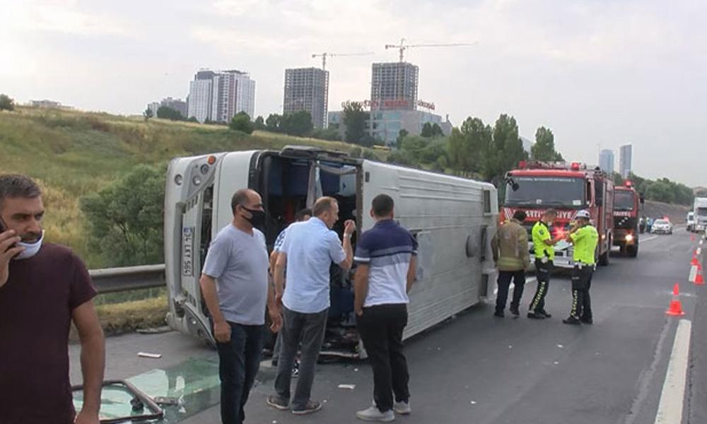 TEM'de kaza: 10 yaralı